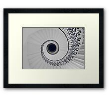 Tulip Staircase, Queens House, Greenwich, England Framed Print