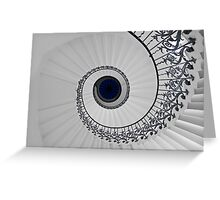 Tulip Staircase, Queens House, Greenwich, England Greeting Card