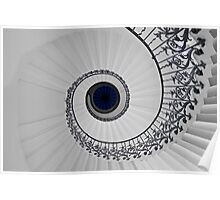 Tulip Staircase, Queens House, Greenwich, England Poster