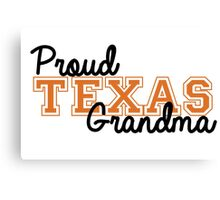 Proud Texas Grandma Canvas Print