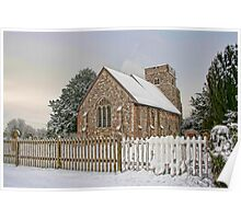 St Mary Burham In The Snow Poster