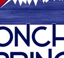 Poncha Springs Colorado wood mountains Sticker