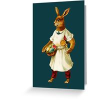 Easter Greetings-Bunny Chef Greeting Card