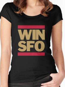 San Francisco 49ers WIN SFO (adult size) Women's Fitted Scoop T-Shirt