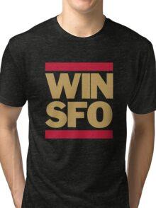 San Francisco 49ers WIN SFO (adult size) Tri-blend T-Shirt