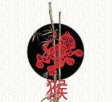 Monkey (chinese zodiac) by Paula Belle Flores