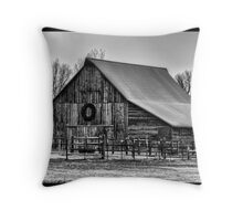Rural Beauty in Winter Throw Pillow