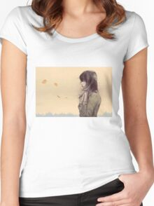 Autumn Morning Women's Fitted Scoop T-Shirt