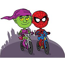 Green Goblin & Spidey Photographic Print