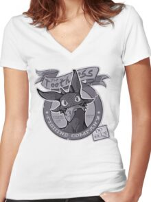 Toothless Fishing Company Women's Fitted V-Neck T-Shirt