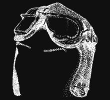 Dotwork Retro Aviator Goggles White! T-Shirt