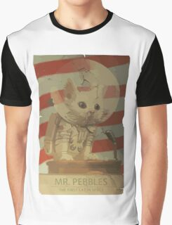 Mr. Pebbles - The first cat in space Graphic T-Shirt