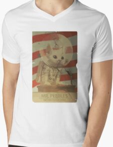 Mr. Pebbles - The first cat in space Mens V-Neck T-Shirt