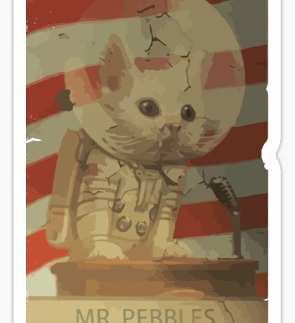 Mr. Pebbles - The first cat in space Sticker