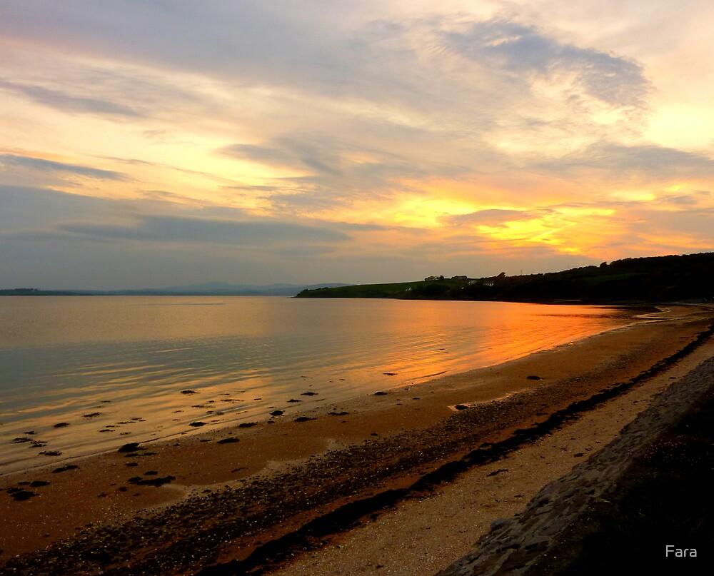Just A Beach At Twilight by Fara