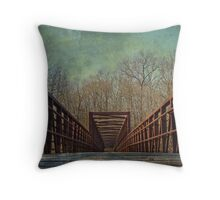 The Bridge To The Other Side of Where? Throw Pillow
