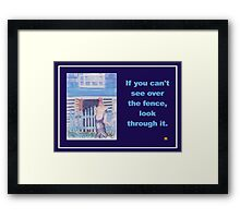 About Obstacles  Framed Print