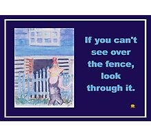 About Obstacles  Photographic Print