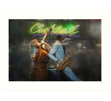 fifties cocktail jazz Art Print