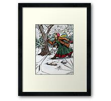Snowflake Girl Framed Print
