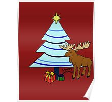 Holiday Moose Poster