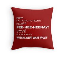 The Feeny Call - Red Throw Pillow