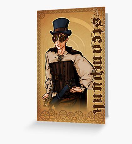 Steampunk Lady Greeting Card