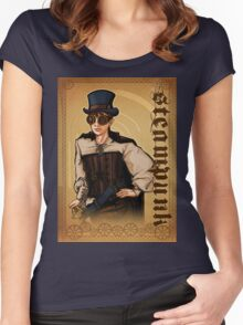 Steampunk Lady Women's Fitted Scoop T-Shirt