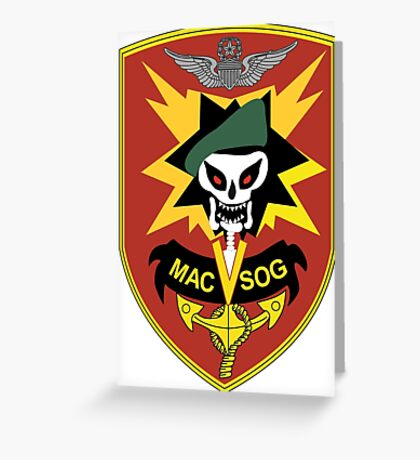Military Assistance Command, Vietnam Crest Greeting Card