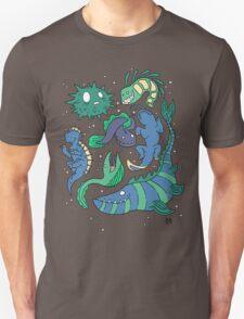 Deep sea monsters -coloured T-Shirt