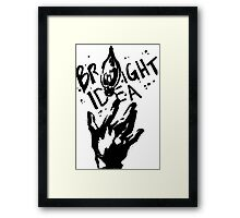 Bright Idea Framed Print