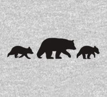 Black Bear with Cubs Kids Tee