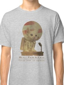 Mr. Pebbles - The first cat in space! Classic T-Shirt