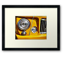 Yellow Willys Jeep Station Wagon headlight Framed Print