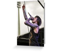 Mitch Lucker of Suicide Silence Greeting Card
