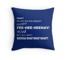 The Feeny Call - Blue Throw Pillow
