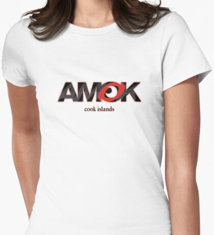AMOK - cook islands Womens Fitted T-Shirt