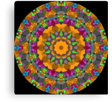 Color Blocks Kaleidoscope 01 Canvas Print