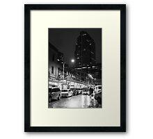 Night market (B&W) Framed Print
