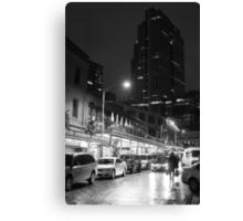 Night market (B&W) Canvas Print