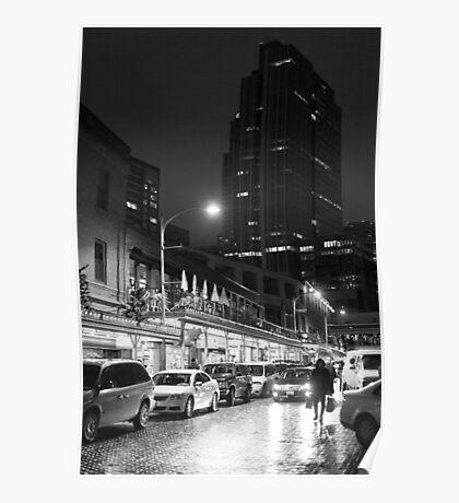 Night market (B&W) Poster
