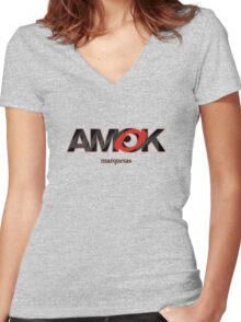 AMOK - marquesas Women's Fitted V-Neck T-Shirt