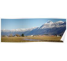 Mt Cheam Guarding the Fraser Valley Poster