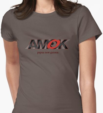 AMOK - papua new guinea Womens Fitted T-Shirt