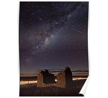 Milky Way above Gumbowie School Ruin Poster