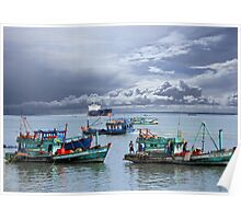 Vietnamese Fishing Boats Poster