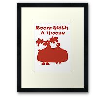 Room With A Moose Framed Print