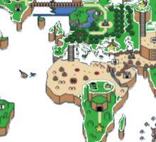 Super Mario World Map T - Shirt Sticker