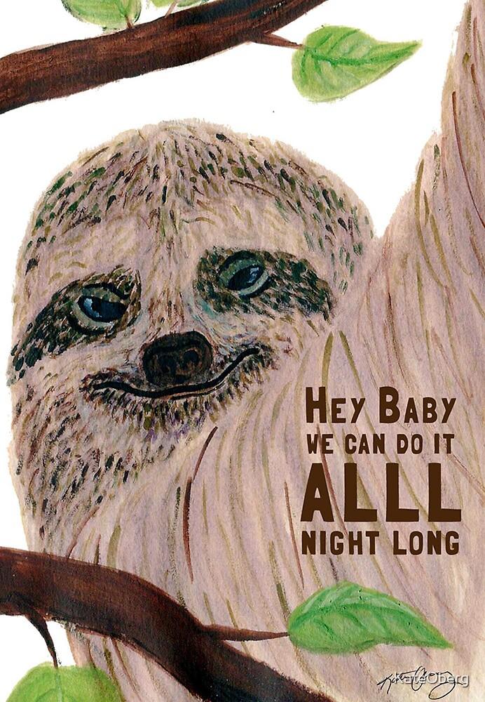 Seductive Sloth by KateOberg