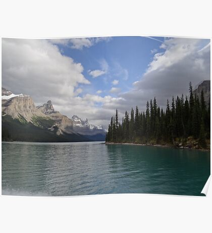 Samson Narrows Maligne Lake Poster